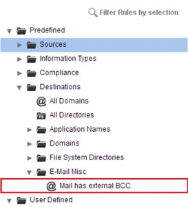 Mail has external BCC Destination Object